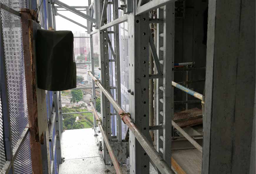 Multi-platforms design  makes site operation at different floor very convenient