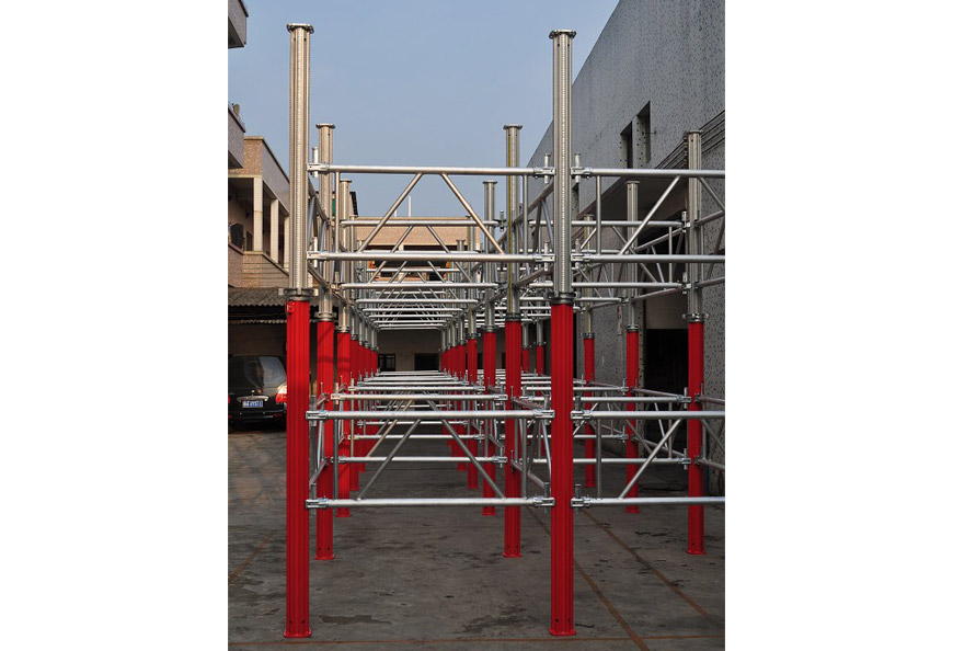 Assembly with truss frame bracing for much bigger bearing capacity and stability